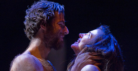 The Washington Shakespeare Company's Macbeth production uses 10 actors, including Daniel Eichner as Macbeth, and Kathleen Akerley as Lady Macbeth.