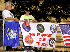 Rit and Lenore Verret attended Operation America Rising at the Memorial Blvd. School in Bristol, Conn., Saturday, July 7, 2007. Related events took place in 42 states.
