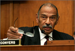 "Chairman of the House Judiciary Committee Rep. John Conyers (D-MI) said he wants Bush to waive executive privilege and let his lawyers or other experts, ""who it appears that he did not consult, explain this in a little more detail."""