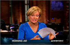 MSNBC's MIka Brzezinski said that after her initial annoyance on the morning of Paris Hilton's release, she and Morning Joe host Joe Scarborough were just mocking themselves.