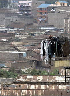 Millions of children who have never set foot in a classroom live in Africa's slums.