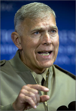 General James Conway, Marine Corps commandant, says underbelly blasts beneath military vehicles were not common in early 2005.