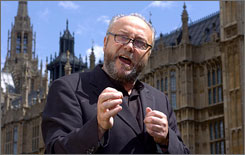 The British House of Commons suspended lawmaker George Galloway after an investigation into his Iraq charity revealed undisclosed ties to Saddam Hussein's government.