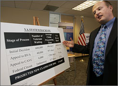 Execuitive Director of Veterans for Common Sense Paul Sullivan is part of a class-action lawsuit filed Monday against the U.S. Department of Veterans Affairs that is struggling to meet growing demands from veterans returning home from the wars abroad.
