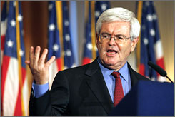 Newt Gingrich continues to hang around the periphery of the 2008 race.