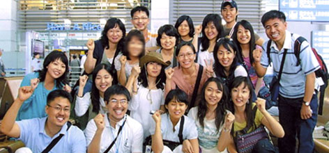 This photo taken July 13 shows the group of South Korean Christians posing for a memorial photo before leaving for Afghanistan at Incheon International Airport.