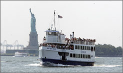 Miss Ellis Island is one of the boats that will be outfitted with flat-screen monitors offering information about the Lady Liberty statue and Ellis Island to enhance visitor experience on trips to Liberty Island.