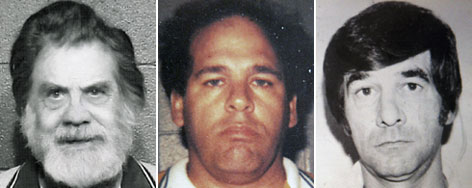"Three of the defendants in the latest Chicago mob trial are Joseph ""Joey the Clown"" Lombardo, left; Frank Calabrese Sr., center; and Paul Schiro. They are charged with taking part in a racketeering conspiracy that included gambling, extortion, loan sharking and murders."