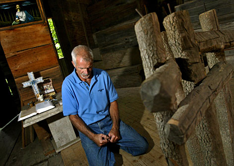"Owner Horace Burgess said th vision for building the treehouse church came to him in a vision from God when he was ""wide awake"" and lasted for only four seconds."