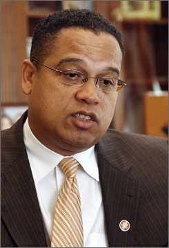 Rep. Keith Ellison, D-Minn., made a weekend trip to Iraq and told reporters that he believes it was a mistake for the U.S. to invade Iraq and that he favors a timeline to withdraw from Iraq, but is open to crafting it in a way to respect generals' wishes.