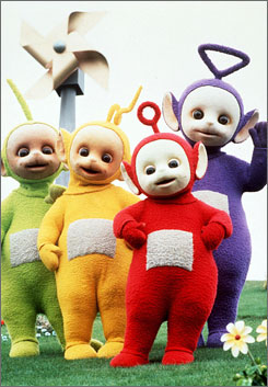 This undated handout picture shows the children's television characters, the Teletubbies. Wax versions of the characters were stolen in a raid on Ireland's National Wax Museum, the museum reported Monday.