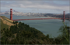 The 220-foot plunge from the Golden Gate Bridge deck into the San Francisco Bay, where an estimated 1,250 suicides have been confirmed since 1937, is popular because it is easy to reach.