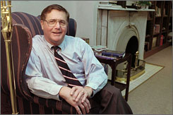Jeb Stuart Magruder, pastor of the First Presbyterian Church in Lexington, Ky., sits in his office in this Dec. 20, 1995 file photo. Magruder rose to the heights of White House power, fell far in the Watergate scandal, then rebuilt a successful life as a minister, only to be arrested on alcohol-related charges in recent years.