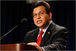United States Attorney General Alberto Gonzales admitted Wednesday he used 'confusing language' in his Senate testimony but stopped short of apologizing.