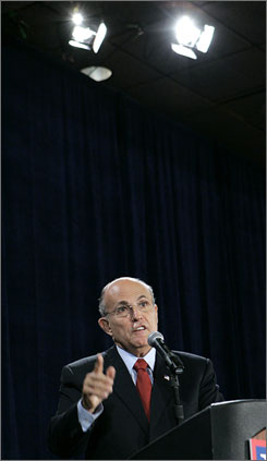 A new Iowa poll shows Rudy Giuliani leading the GOP field in that state.