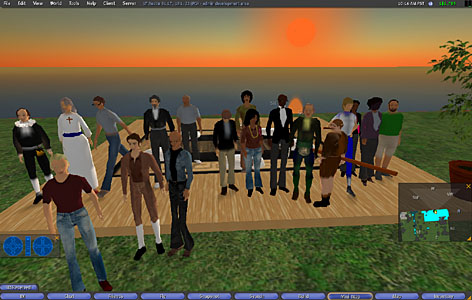 English students at the University of Texas-Austin each picked a role model, created an avatar and assumed  the role of the avatar for the activity. Among avatars: Malcolm X, Oprah, Mother Teresa, Bill Gates and Teddy Roosevelt. The students conducted conversations in the personae of their avatars.