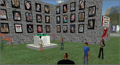 "University of Texas-Austin assistant instructer Joe Sanchez took students to a Virginia Tech memorial built in Second Life. ""They felt like they were in a sacred place,"" he says."