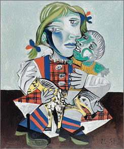 """Maya and the Doll"", a 1938 oil on canvas by artist Pablo Picasso, was one of two Picasso works recovered Tuesday. It was not immediately clear if the recovered works suffered any damage."