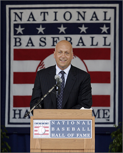 Cal Ripken, Jr., shown during this year's Hall of Fame induction ceremonies, has been named a special sports envoy by the State Department.