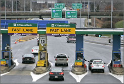 Toll booths up and down the East Coast accept E-ZPass, making it easy to monitor when and where a car passes through a booth.