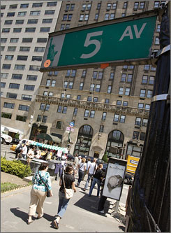 New York City's Fifth Avenue goes through the ZIP code atop the contribution list.