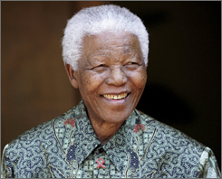 Nelson Mandelam, seen here in 2005 has always been free and a force in South Africa for the young people born in 1989.