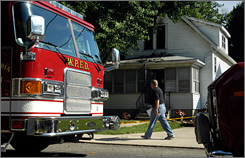 Danny Dahlquist, 19, died of smoke inhalation in this West Peoria, Ill., house on Aug. 12 after four friends set off Roman candles in his room while he slept.