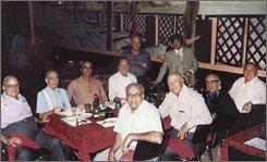 "A 1978 photo shows alleged organized crime figures seen at a Chicago area restaurant . Clockwise from left are: Joseph ""Doves"" Aiuppa, Martin Accardo (tentative identification), Vincent Solano, Alfred Pilotto, John ""Jackie the Lackey"" Cerone, Joseph ""The Clown"" Lombardo, James ""Turk"" Torello, Joseph ""Little Caesar"" DiVarco, Joseph ""Black Joe"" Amato and Anthony J. ""Big Tuna"" Accardo."