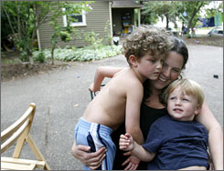Tamara Rubin, her boys A.J., 5, and Avi, 2, were all exposed to lead when a contractor improperly removed lead paint from their former home. They were forced to move after the expense of lead abatement proved too much.