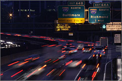 Early morning commuters drive toward Washington, D.C., on Interstate 66 to get a jump on the morning rush.