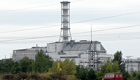 The sheltered  reactor No. 4 of the Chernobyl nuclear power plant. It exploded on April 26, 1986, spewing radiation over a large swath of the former Soviet Union and much of northern Europe. An area roughly half the size of Italy was contaminated, forcing the resettlement of hundreds of thousands of people.