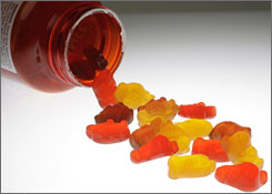 Gummy-style vitamins can stick to teeth.
