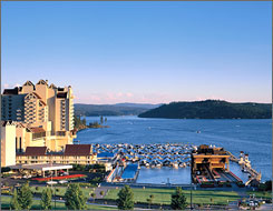 Northern Idaho's vast wilderness serves as a backdrop for the Coeur d'Alene Resort.