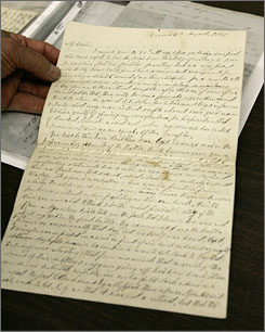 The letters in the possession of Thomas Willcox were supposed to be auctioned in 2004, but South Carolina's government sued, claiming they were state property because they were written as part of official state business. A federal judge ruled last year that Willcox owned the collection, which were in his family for generations before he discovered them in his parents' home after they died.