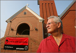 Gerald Hanberry, pastor of Glade United Church of Christ, says land-use decisions shouldn't be based on religion.