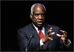 Supreme Court Justice Clarence Thomas devotes more than a quarter of the book to his 1991 confirmation battle.