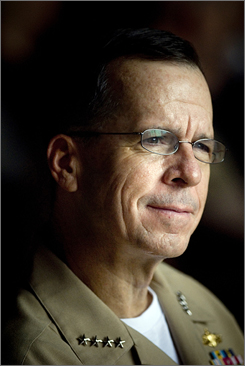 Adm. Mike Mullen replaces Gen. Peter Pace as the chairman of the Joint Chiefs of Staff.