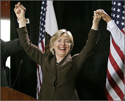 In the first nine months of 2007, Sen. Hillary Rodham Clinton has missed only 32 of 357 votesin Congress.
