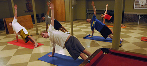 "Early morning yoga is just one of the changes at the University of Missouri-Columbia chapter of Sigma Phi Epsilon since the fraternity adopted the national organization's ""Balanced Man"" program in 2006."