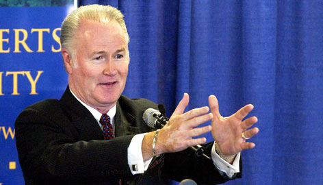 Richard Roberts, president of Oral Roberts University, is shown in Tulsa in this Sept. 2004, file photo. A lawsuit filed Tuesday by three former professors alleges dozens of instances of misconduct by Roberts, son of televangelist and university founder Oral Roberts.