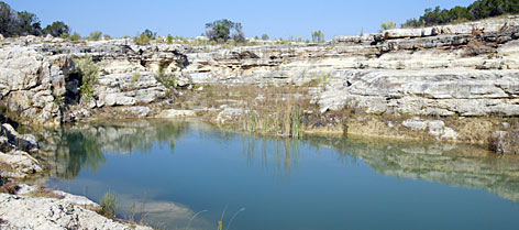 Year-round pools of blue-green water collect along the bottom of Canyon Lake Gorge. Some still have fish that came in with the 2002 flood waters that lasted roughly six weeks as rain hit the state with an estimated $1 billion in property damage.