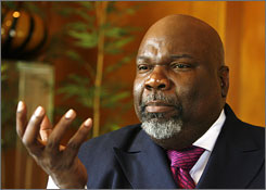 """Now is the time for the church to give a clarion call to government that this is one of the issues high on our radar screen,"" says Bishop T.D. Jakes of Dallas, co-chair of the National Black Leadership Commission on AIDS meeting."