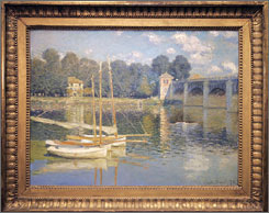 """Le Pont d'Argenteuil"" shows a view of the Seine River at a rural bend."
