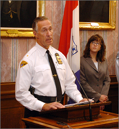 Cleveland Chief of Police Michael McGrath discusses the incident at a news conference on Thursday.