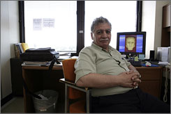 Donny George sits in his office at Stony Brook University in Long Island, N.Y. He was the director of the National Museum in Baghdad but fled the country when his youngest son was threatened.