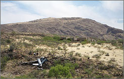 The Predator B crashed near homes about 30 miles from Nogales, Ariz., in April 2006.