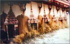 In this undated file photo released by Wat Khun Samut Chin, the sea crashes into the Buddhist temple during high tide.
