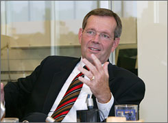 Health and Human Services Secretary Mike Leavitt is among the 61 million Internet bloggers.