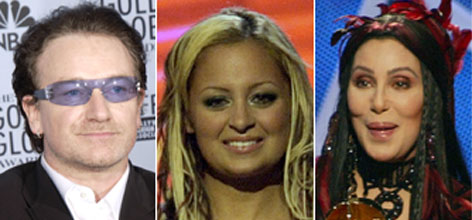 Expletives by Bono, Nicole Richie and Cher during live broadcasts of awards shows helped to inspire a crackdown by the FCC.