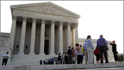The Supreme Court justices heard arguments in United States vs. Williams on Tuesday.